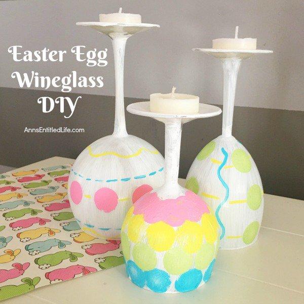 Easter Egg Wineglass DIY