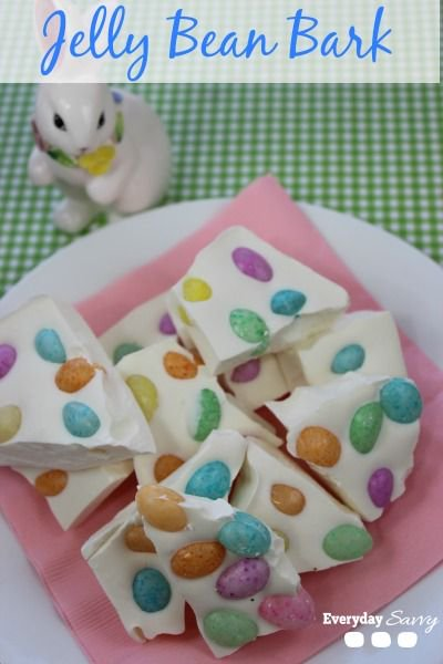 Jelly Bean Bark Recipe -Easy Easter Treat
