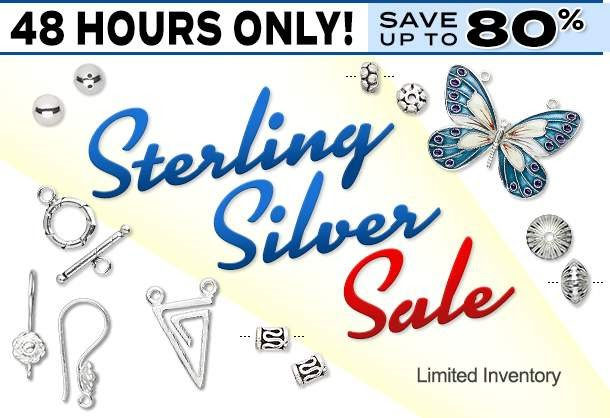 48-Hour Sterling Silver SALE! BEADS and More!