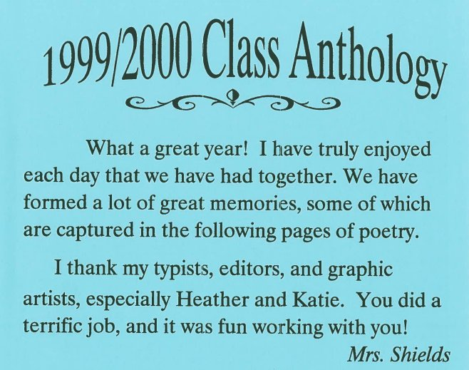 Throwback to the 2000 8th grade poetry anthology from my initial National Board Certification class! #ALNBCTWeek https://t.co/TurF7Kk4LE https://t.co/TMAgtymay6