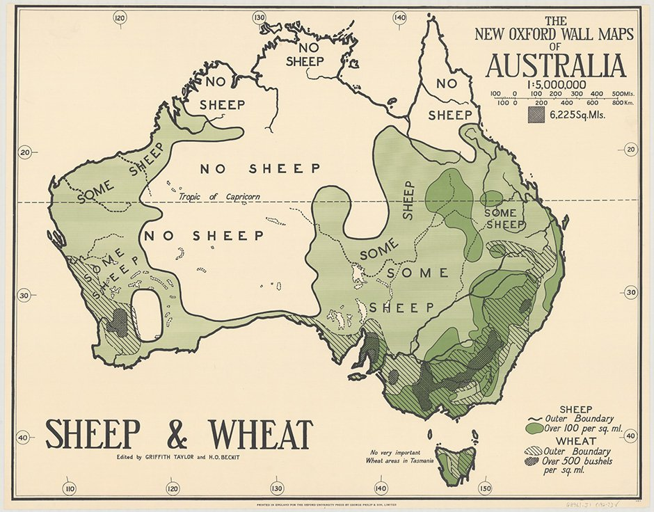 Australia Map 2017.Terrible Maps On Twitter 1920 Australian Map Of Sheep
