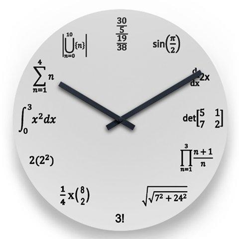 数学好きがますます増え、数学嫌いもますます増える時計