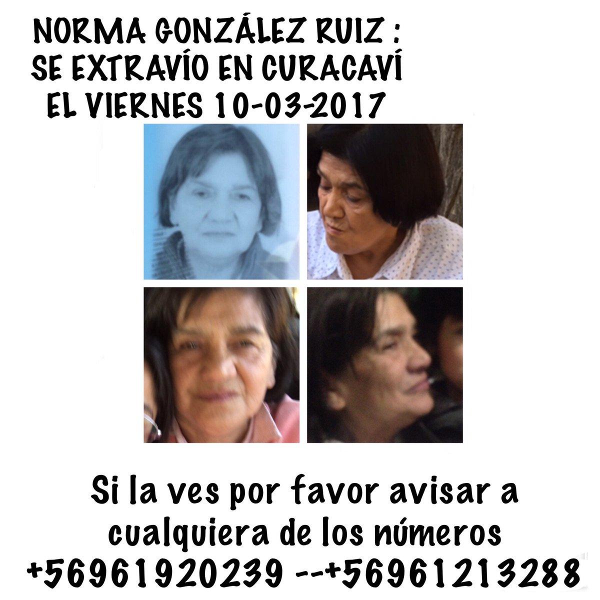 Estimados(as) ,extraviada en #Curacaví  debe estar desorientada. Favor RT  #EstaciónCentral #Pajaritos #Pudahuel #Maipú<br>http://pic.twitter.com/PJ4woTDGjk