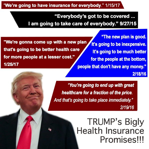 I sure hope reporters help people remember all these promises! Bigly!
