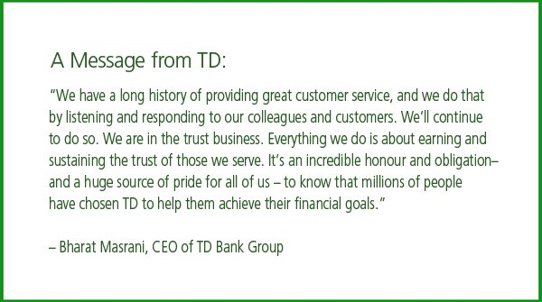 A Message from TD: https://t.co/UmwGcWIGDL
