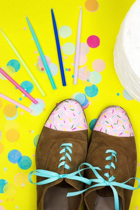 Birthday Cake Shoe Makeover • A Subtle Revelry
