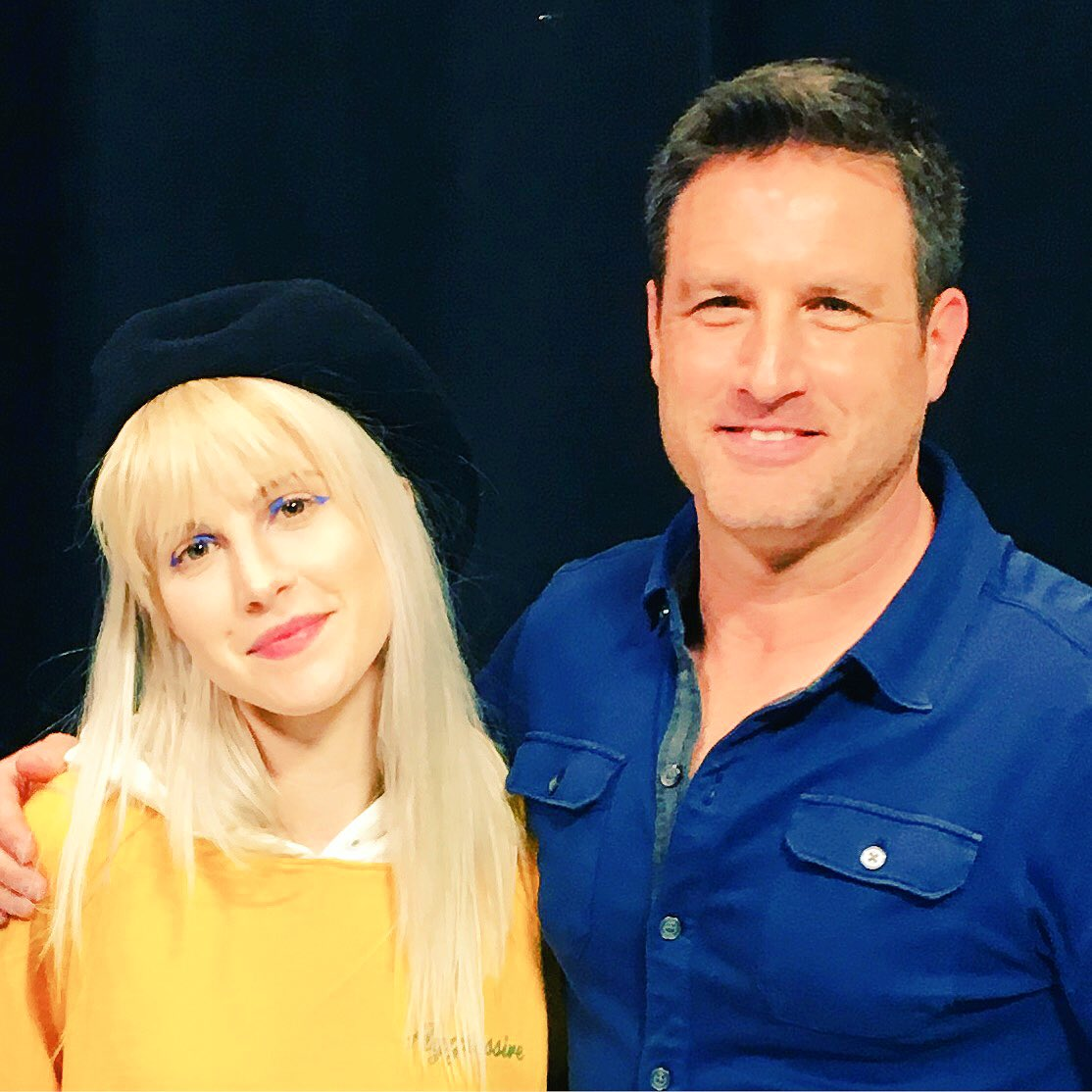 Thnx for a great day on set @yelyahwilliams can't wait for more @paramore