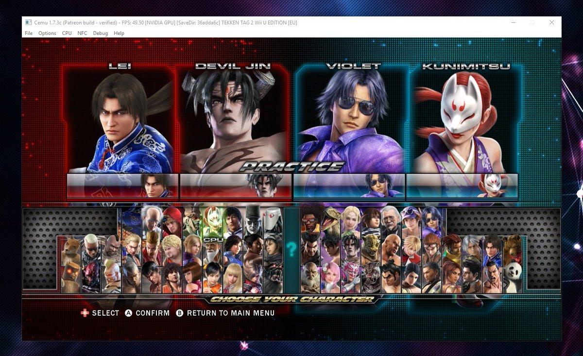 Wonkey On Twitter New Build Of Cemu With Tekken Tag Tournament 2