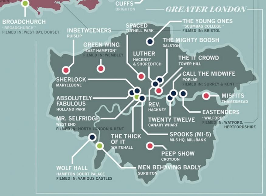 Designer Creates Map Of TV Shows Set In London