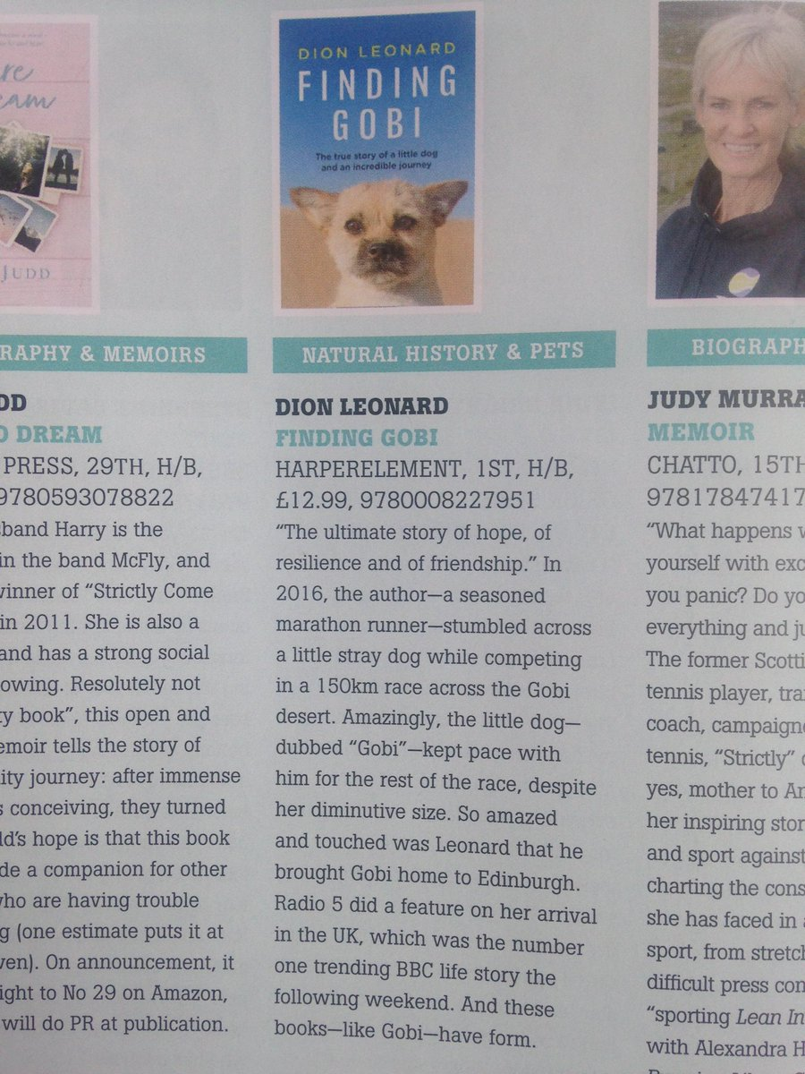 "Pamela Butchart on Twitter: ""Can't wait to read #FindingGobi Thanks for the tip @thebookseller @CaroSanderson Roll on JUNE!"