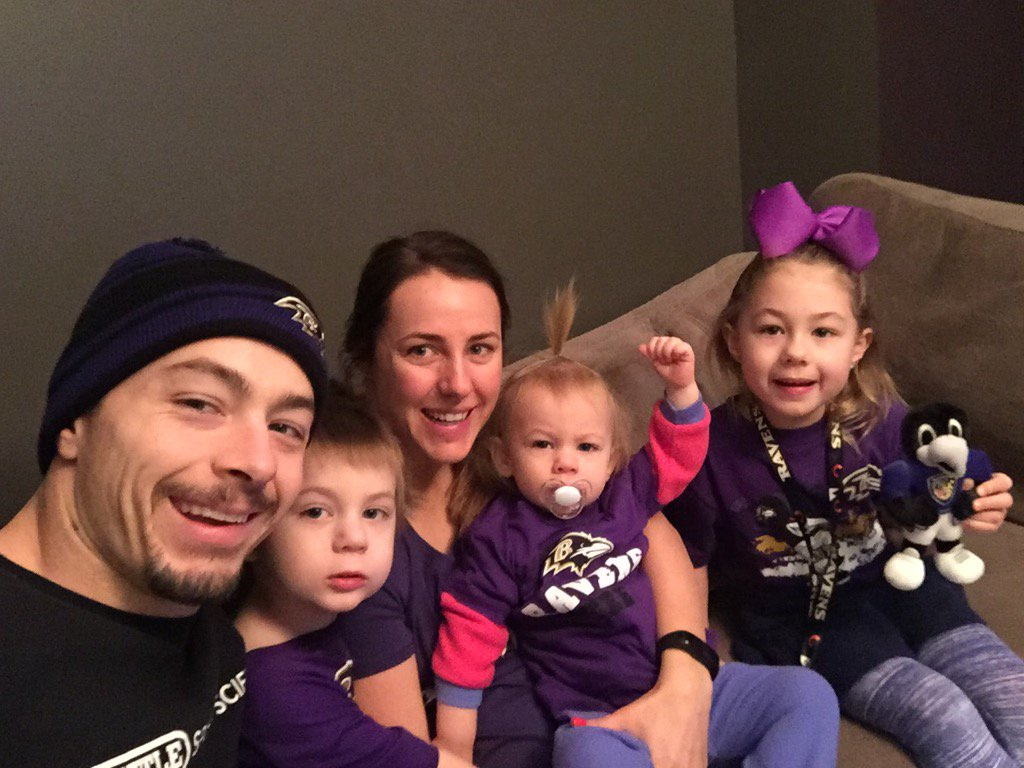 """danny woodhead on Twitter: """"This Woodhead family is excited about being ravens! The girls esp love the purple! #RavensFlock… """""""