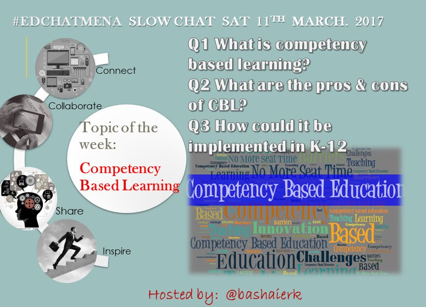 Join #edchatMENA slowchat to discuss on #CBL this Sat #edchat #asiaed  #satchat https://t.co/cBBFeKQkEE