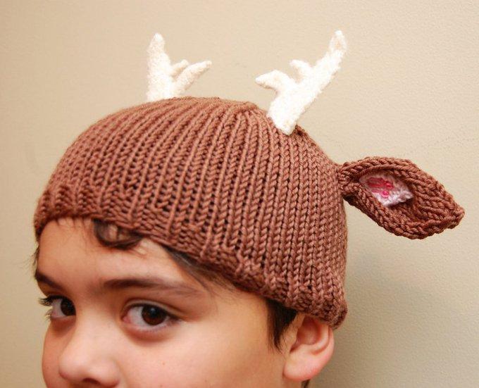 Cutest Deer Antler Hat Model Ever!