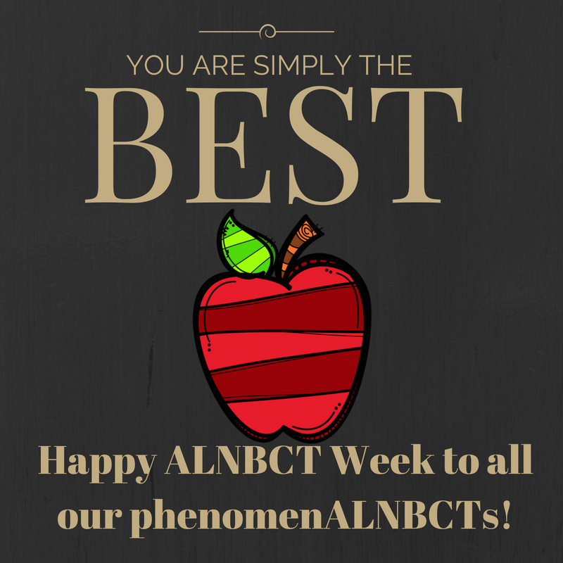 It's been an phenomenAL #ALNBCTWeek! Thank you NBCTs for all that you do for our students in Alabama! You make a difference! https://t.co/7PFdZUeBSI