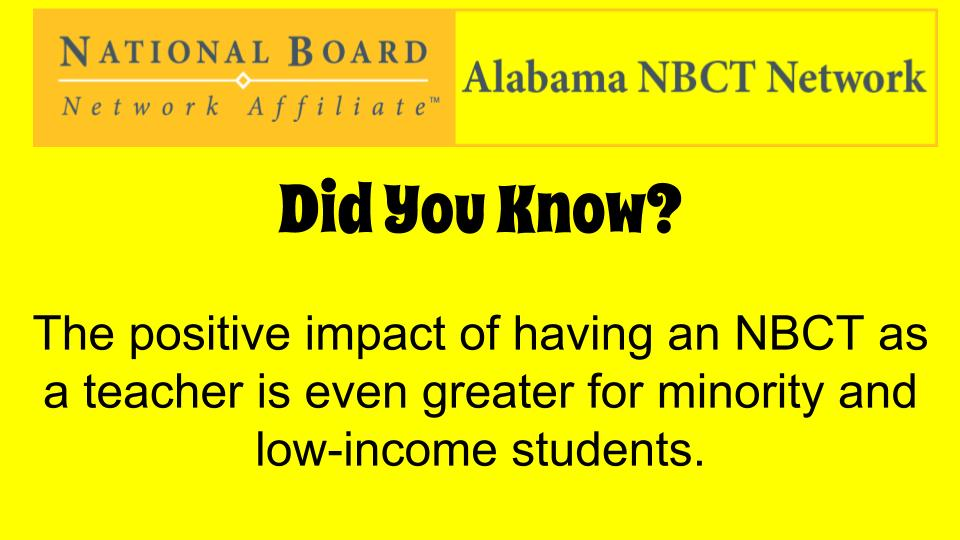 We can change education in Alabama! Help us encourage other incredible AL teachers to become an NBCT! #ALNBCTWeek https://t.co/buf8gWBpkV