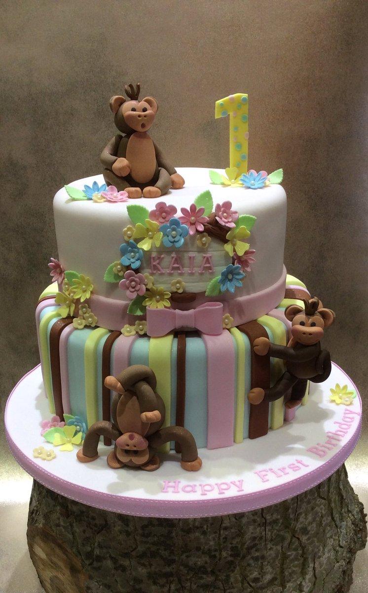 Groovy Anita B Cakes On Twitter Todays Monkey Themed First Birthday Personalised Birthday Cards Xaembasilily Jamesorg