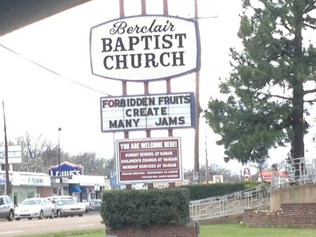 Memphis Church Sign: Thou Shalt Stock Up on Peanut Butter! https://t.co/kWFOOy6RCq https://t.co/aRXemOsjk3