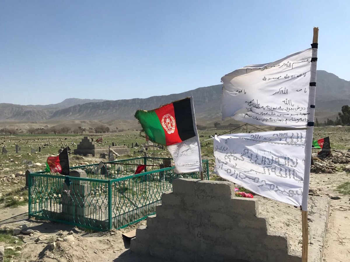 #AFG Nothing can better epitomize the tragedy & misery of war than this picture. A village graveyard home to young men lost on both sides.