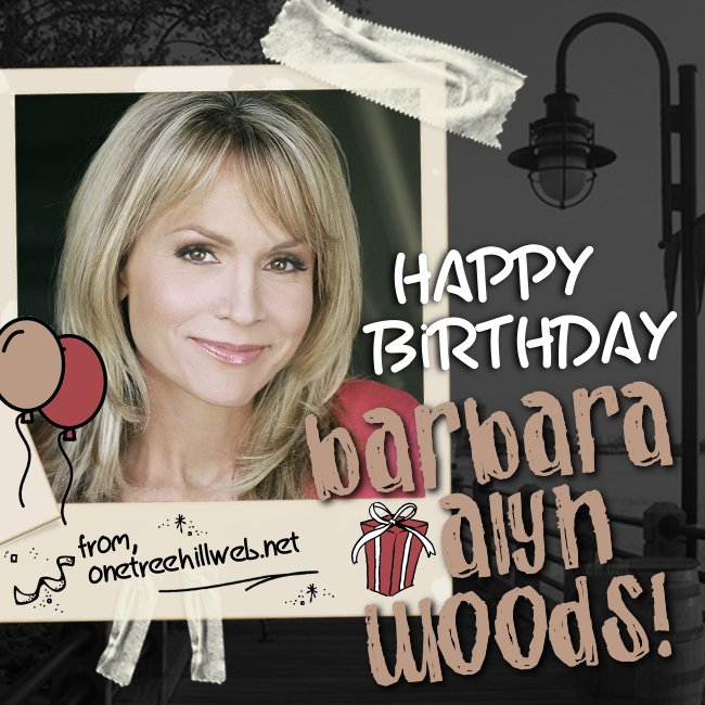 Happy Birthday to our girl #BarbaraAlynWoods!! We hope it's MAGICAL! #DebScott #OTHfamily #OneTreeHill