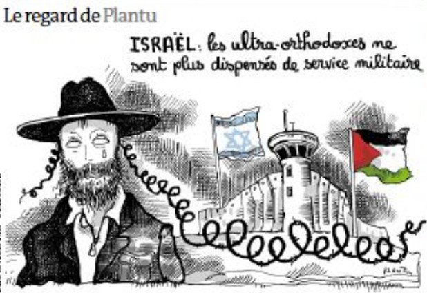 Image result for Plantu antisemitic cartoons