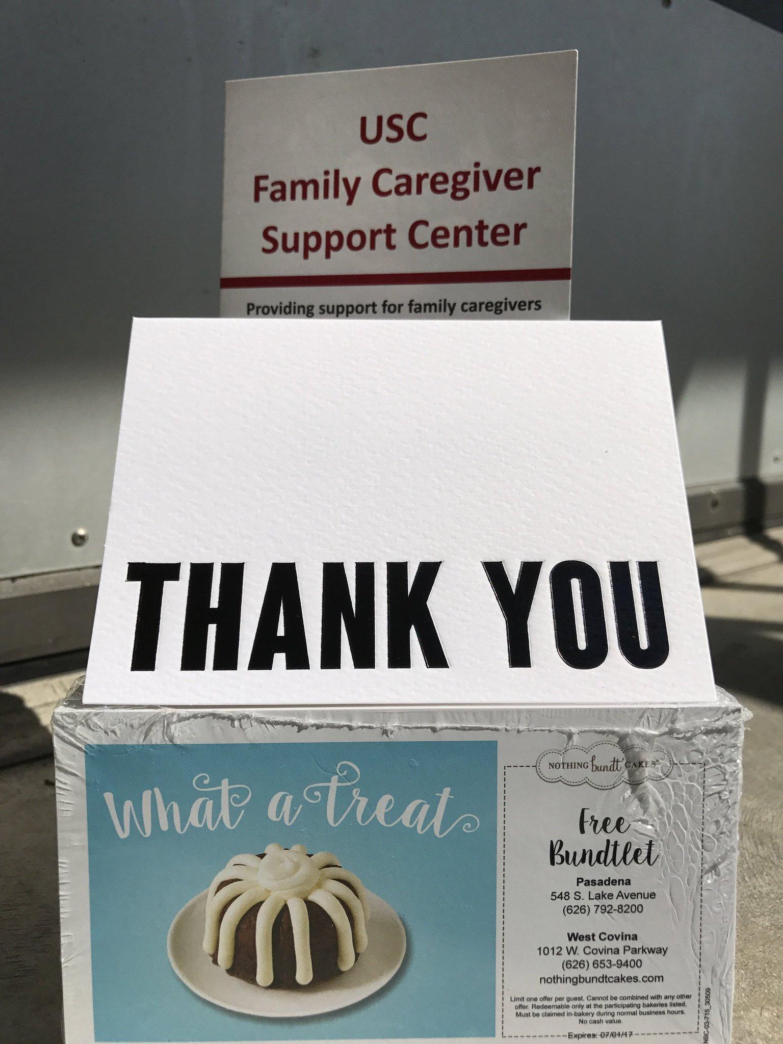 @nothingbundt will be sweetening hundreds of #caregivers lives. USC Encore Trojans #SCervice https://t.co/16Cfdbnusi