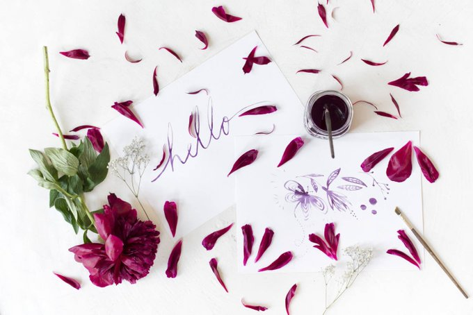 How To Make Floral Ink From Flower Petals