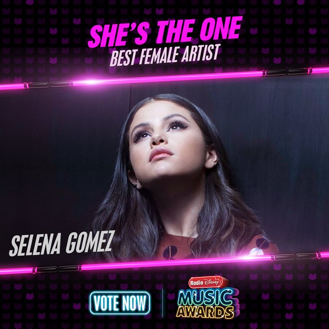 RT to vote for #SelenaGomez for #ShesTheOne! @radiodisney #RDMA @selenagomez