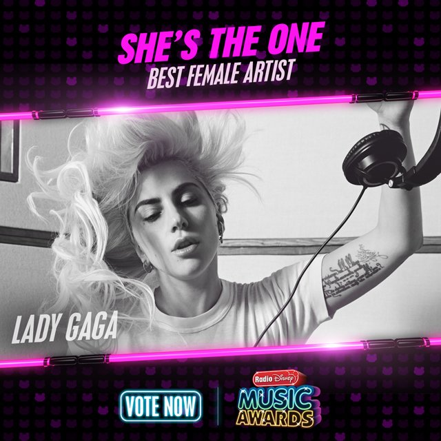 RT to vote for #LadyGaga for #ShesTheOne! @radiodisney #RDMA @ladygaga