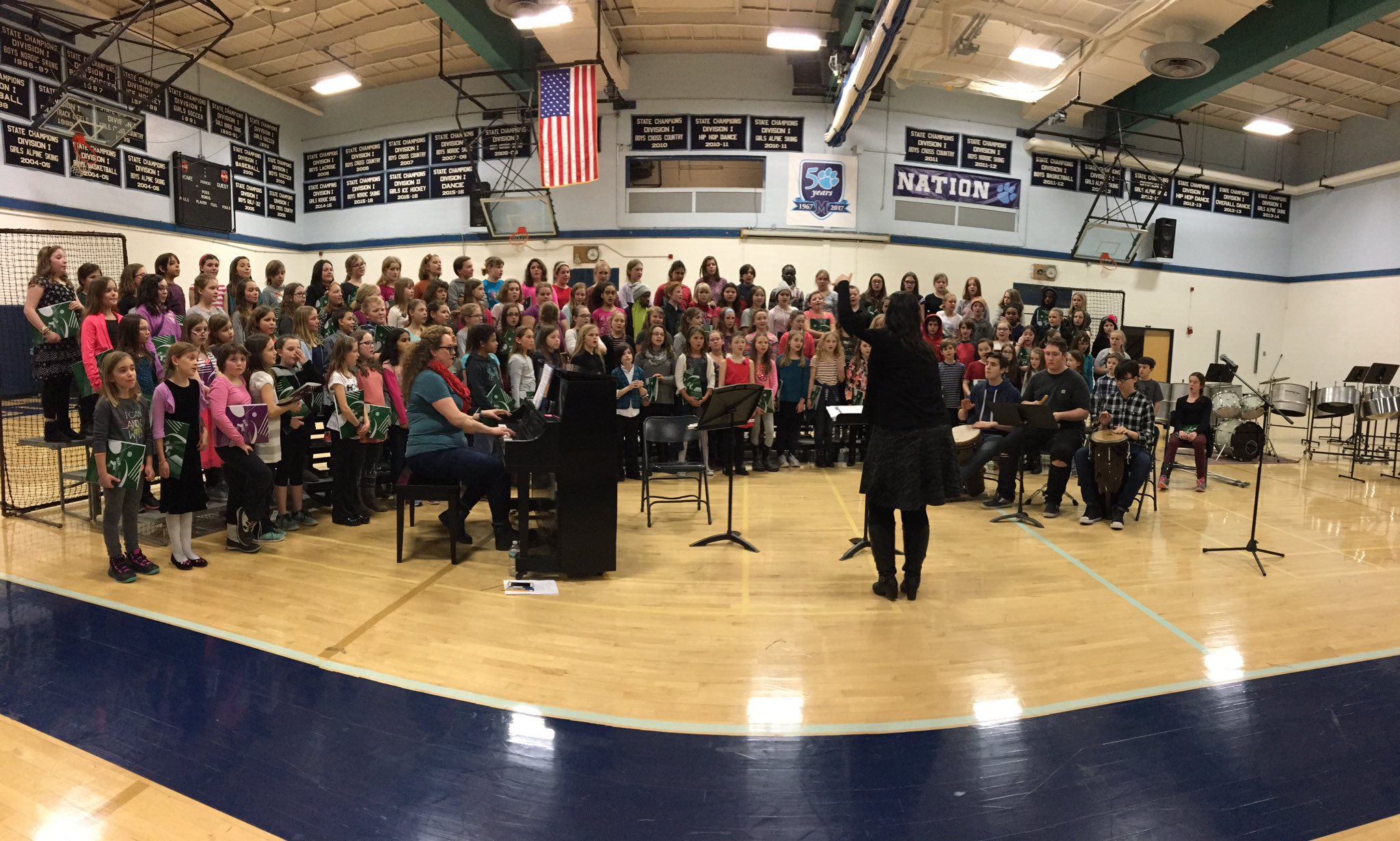 Celebrating the first VMEA 4th and 5th grade choral/world drumming festival~ #MIOSM #NAfME https://t.co/wTG4OmQC4B