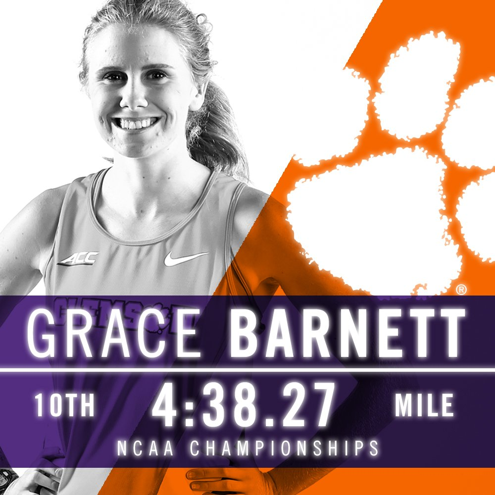 Grace Barnett and Iana Amsterdam both made #Clemson history to conclude the indoor season at the #NCAATF finale! 📝https://t.co/Db2StanTkN https://t.co/QejvA5E8Up