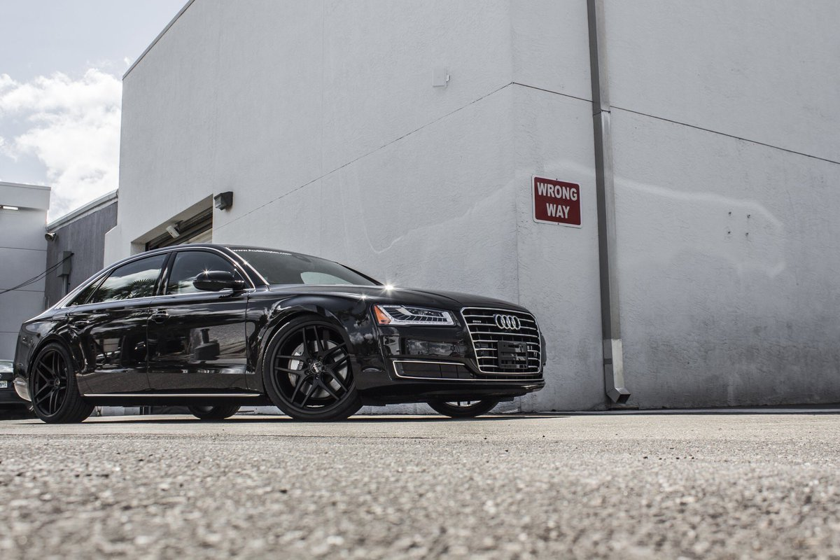 Flyest Audi On Twitter This Blacked Out Audi A8 Limousine Is