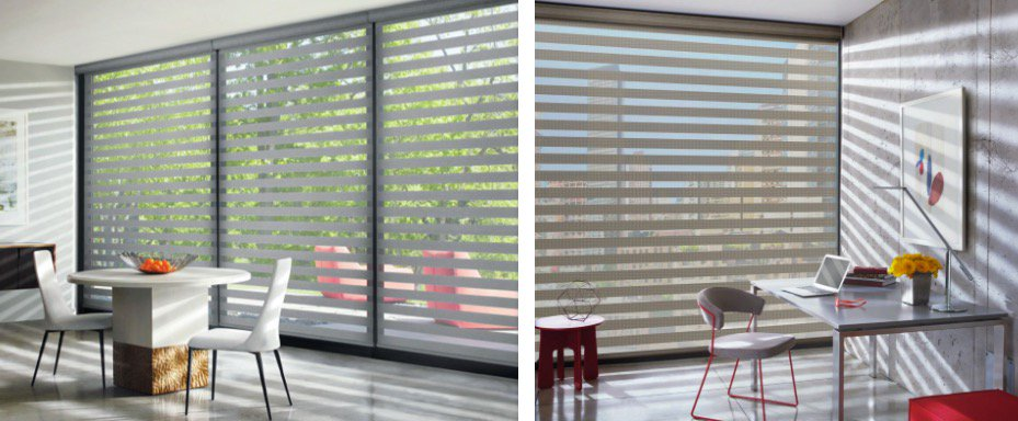 Image result for banded shades hunter douglas