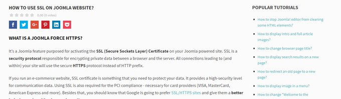 How to use SSL on Joomla website?