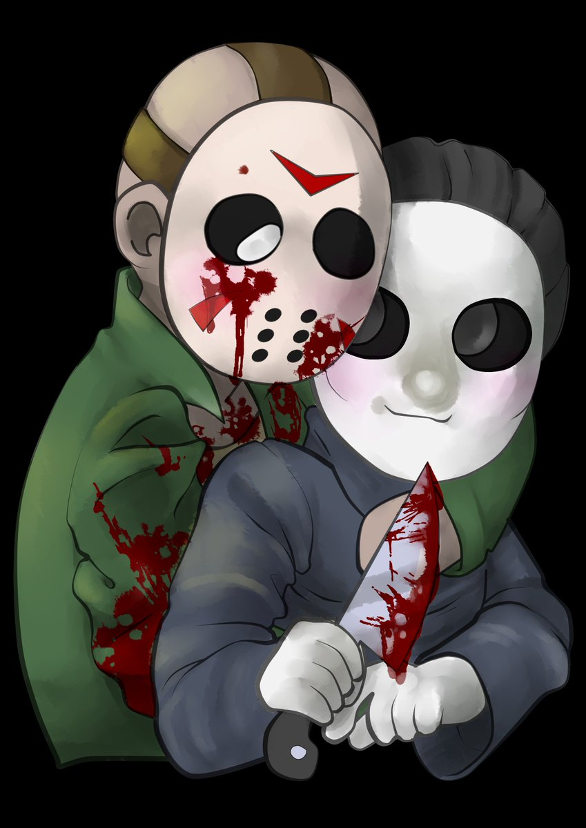 I&#39;m calling it jachael, for lack of a better ship name. :Y #michaelmyers #jasonvorhees <br>http://pic.twitter.com/cX2sPn9lBS