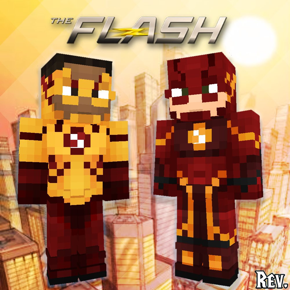 """Rev.⚡(logged off) on Twitter: """"#Minecraft skins of #TheFlash and"""