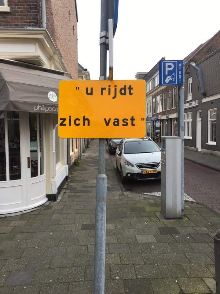 Superbedankt voor de waarschuwing, gemeente Haarlem