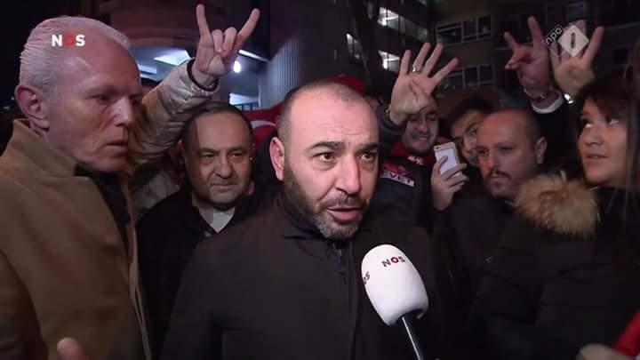 Grijze Wolven demonstratie Turkse consulaat Rotterdam