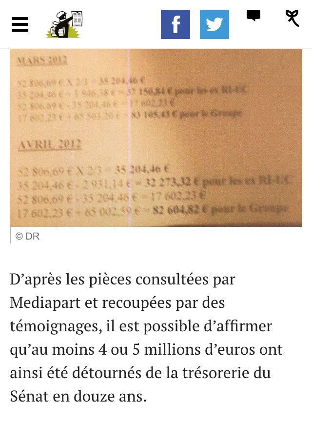 #Sénat Un extrait de la comptabilité occulte du groupe UMP déjà sur @mediapart https://t.co/JcAeXNhb8J