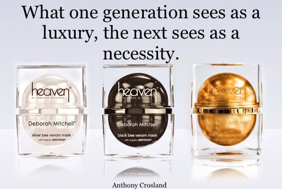 HeavenSkincare TM inventors of Bee Venom mask, derived from ABEETOXIN (R) for young looking, healthy skin, mind, body and soul.