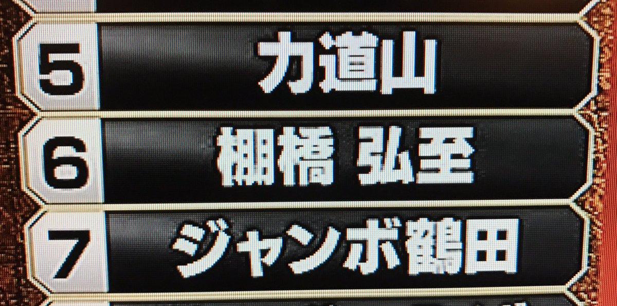 力道山先生とジャンボ鶴田さんに挟まれるランキング。頑張ってきてよかった。 #プロレス総選挙