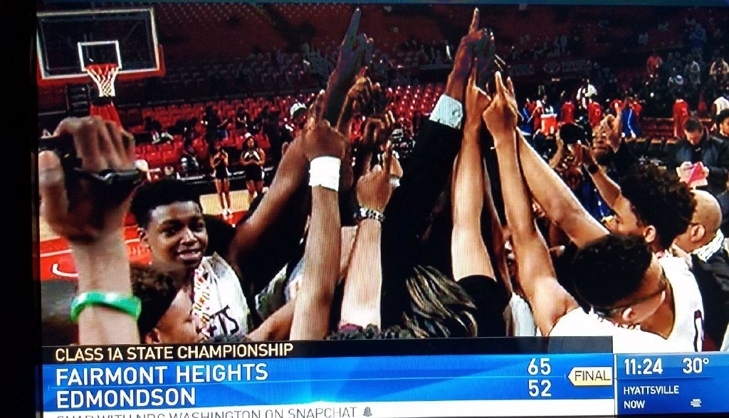 Congrats to Fairmont Heights HS for winning the 1A State Boys Basketball Championship! @pgcps @PGSuiteMagazine https://t.co/3XD7S7nmN0