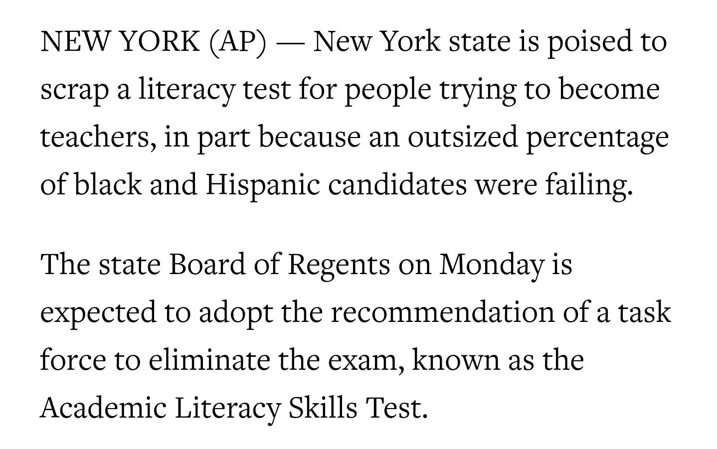 The safest space on twitter new york is scrapping the literacy the safest space on twitter new york is scrapping the literacy portion of its teacher certification exam because too many black hispanic candidates were xflitez Choice Image