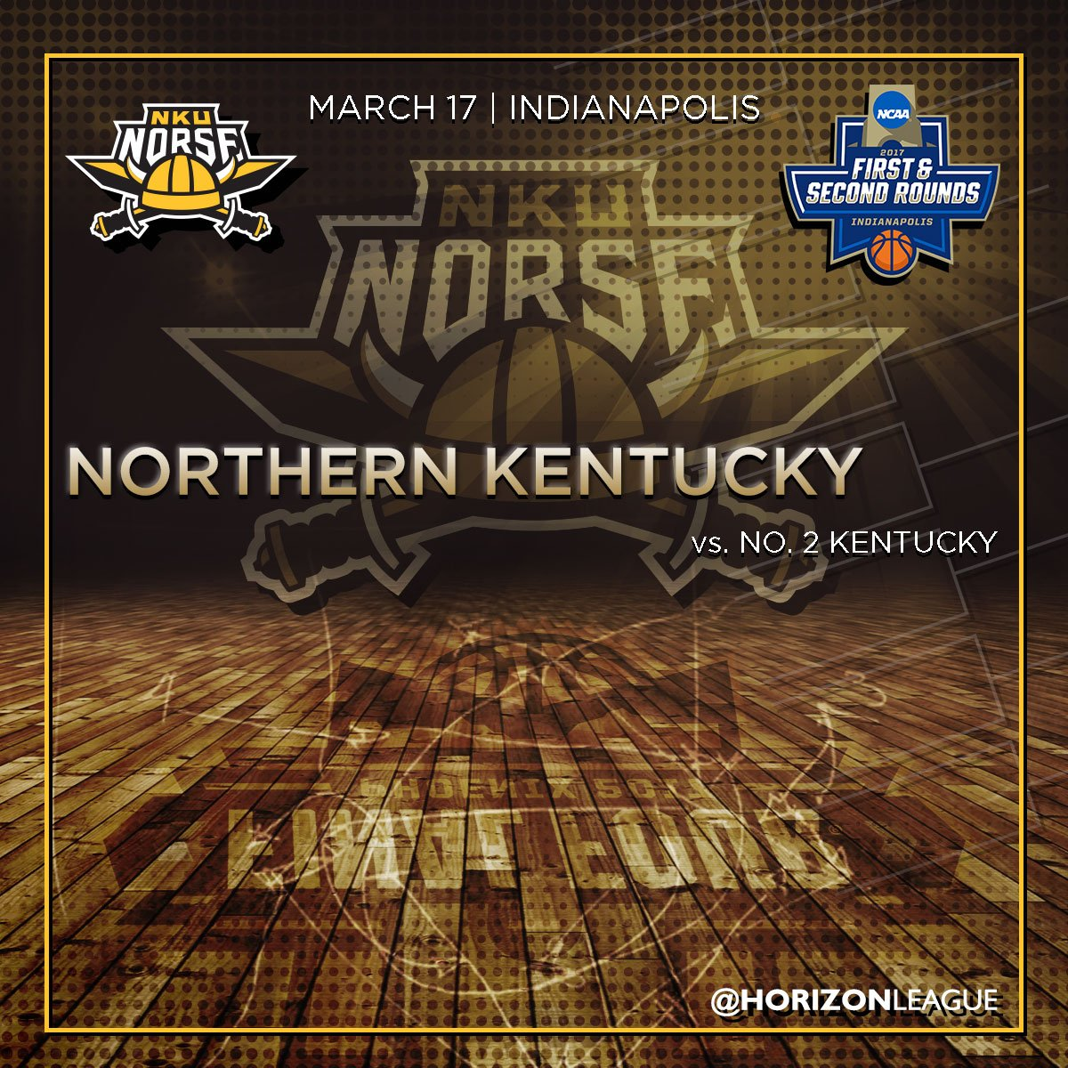 .@NKUNorseMBB will face Kentucky in the 1st rd of the NCAA Tournament in Indianapolis! https://t.co/1CSMwnzsuD
