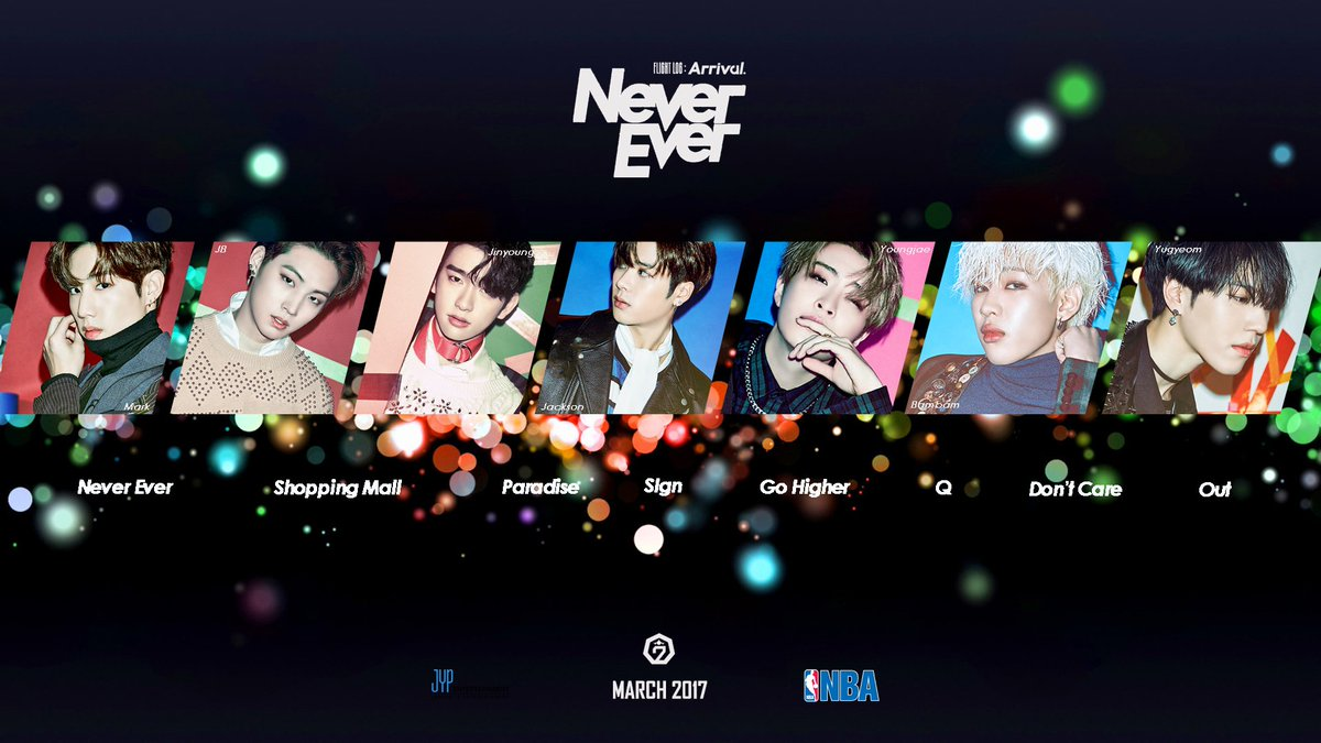 Mita Yasella On Twitter EDIT GOT7 FLIGHTLOGARRIVAL NeverEver Poster Mark JB Jinyoung Jackson Youngjae Bambam Yugyeom HQ Link