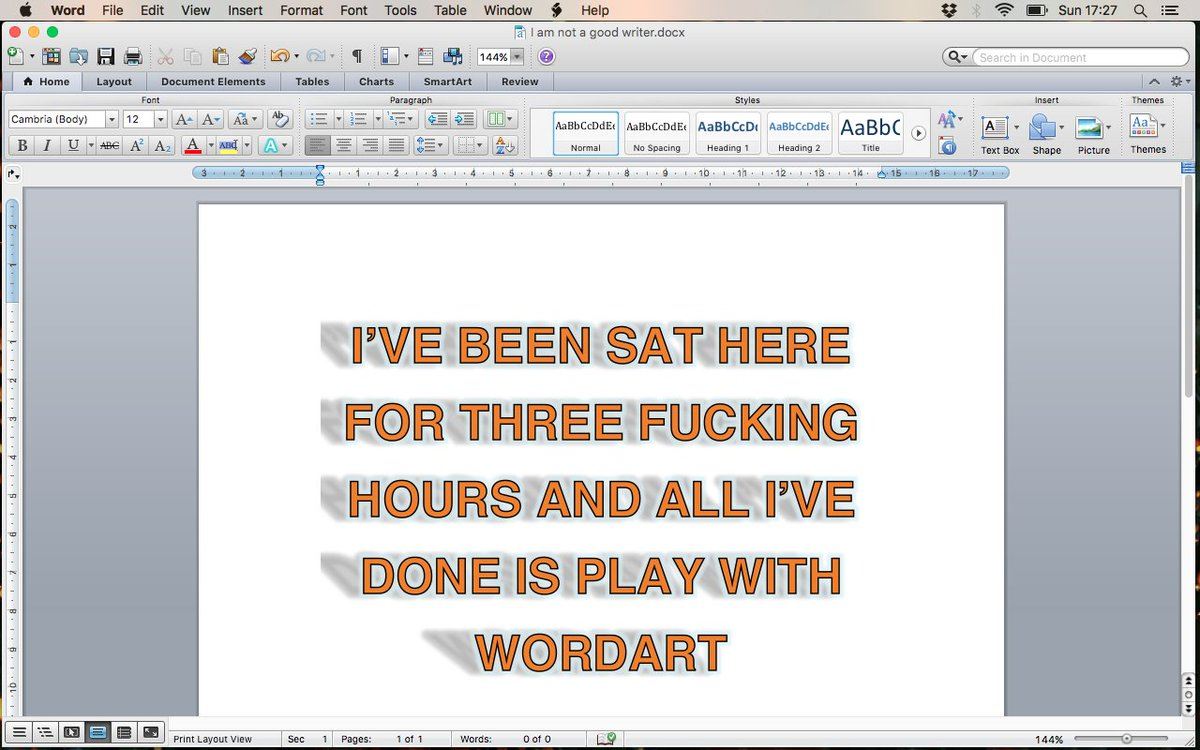 them: 'How's writing going?' me: