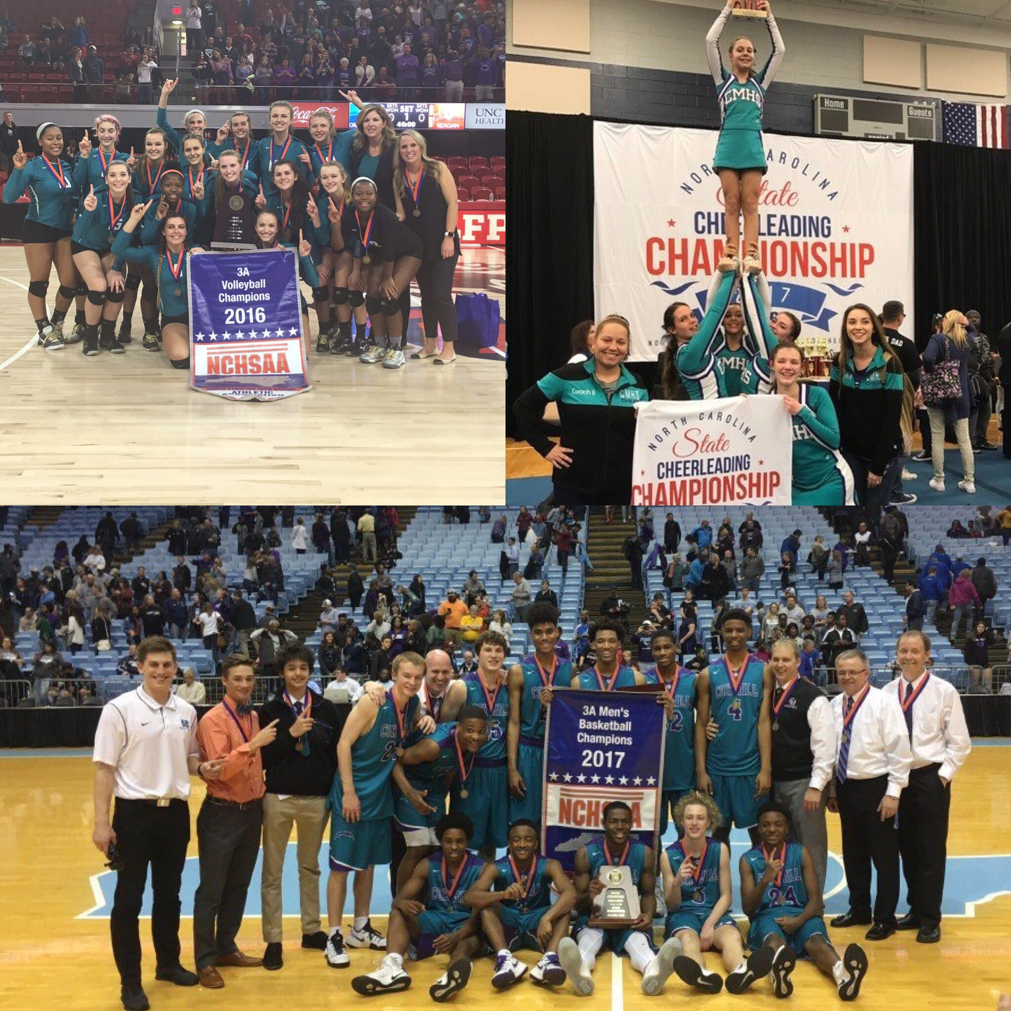 Cox Mill Chargers bringing home those 💍!  #StateChampions #DontYouWishYouWereACharger 🏅🏆🏀🏐🤸♀️ https://t.co/rMpLSrmcVE