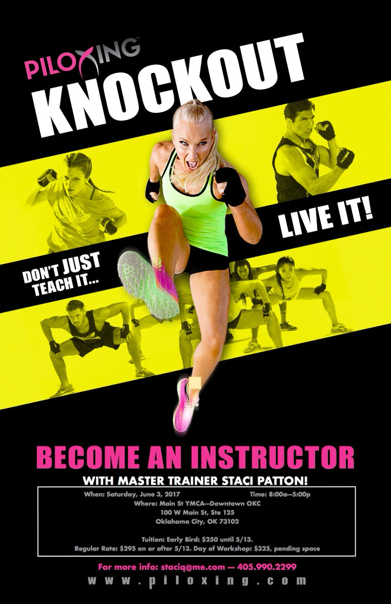 Staci p qicats twitter looking to get piloxing knockout certified my upcoming 63 workshop is your opportunity xflitez Image collections