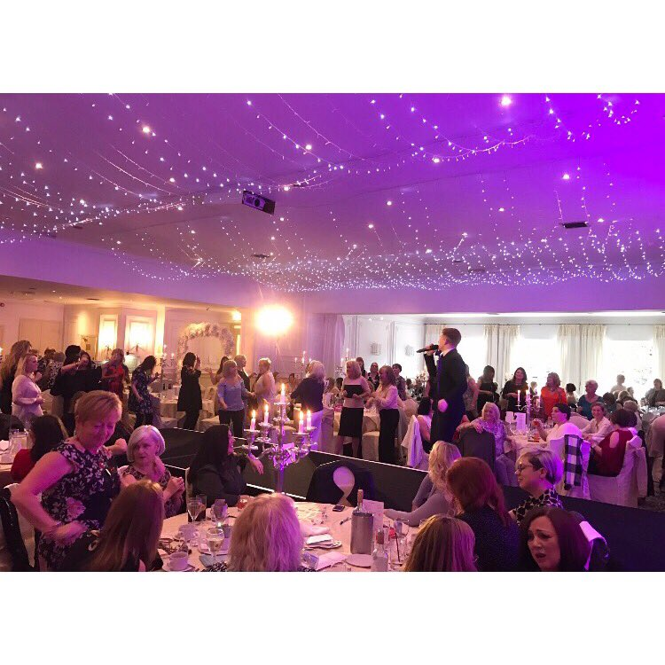 Had a fantastic day performing at @StAndrewHospice ladies lunch ... A lot of money raised also ❤👭 https://t.co/Ut6kMNfFsq