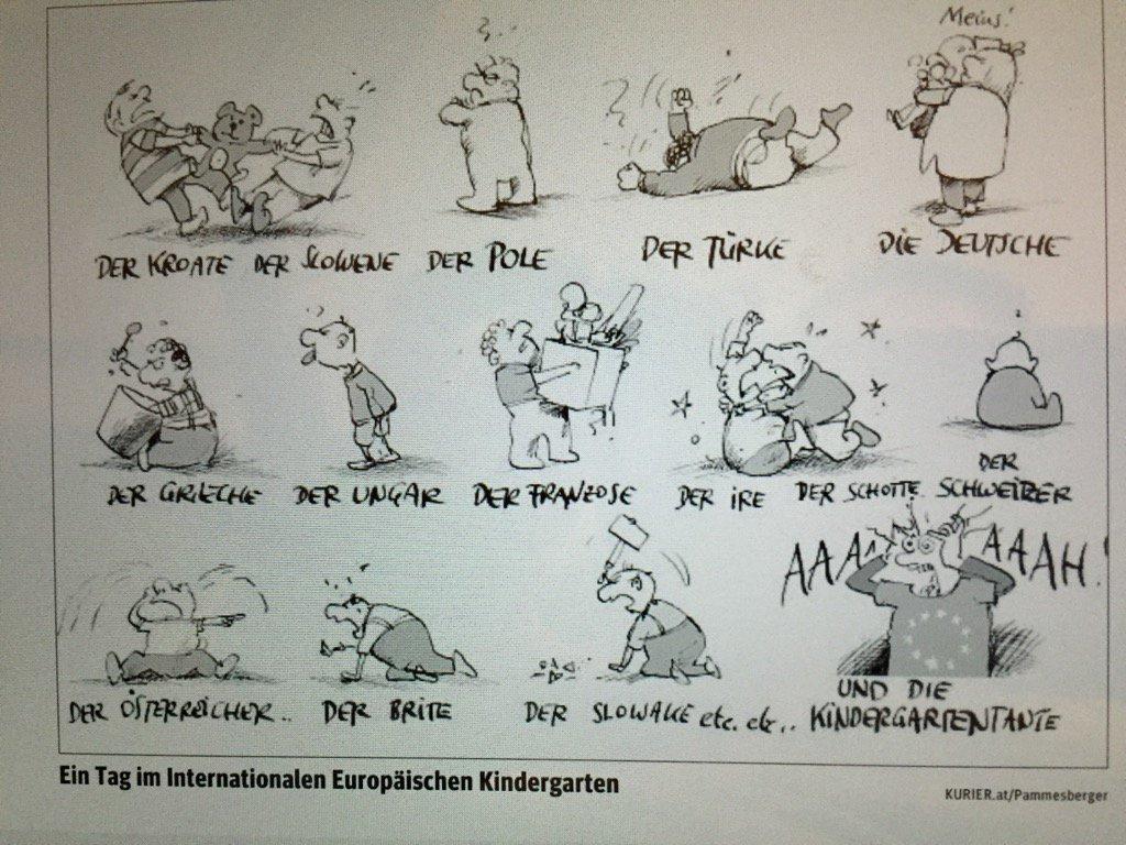 Ein Tag im Europäischen Kindergarten.     Pammesberger im #Kurier. htt...