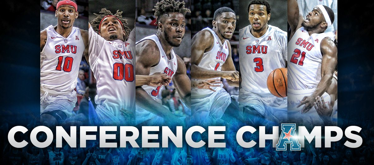 Congratulations, @SMUBasketball! Regular season & @American_MBB tournament champs...onward to #MarchMadness ! https://t.co/mYLbT2SmBE